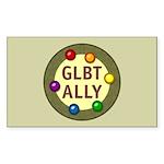 Ally Baubles -GLBT- Rectangle Sticker