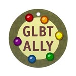 Ally Baubles -GLBT- Ornament (Round)