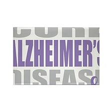 Cure-Alzheimers-2009-blk Rectangle Magnet