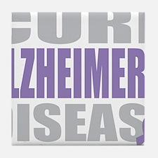 Cure-Alzheimers-2009-blk Tile Coaster