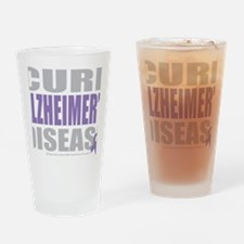 Cure-Alzheimers-2009-blk Drinking Glass