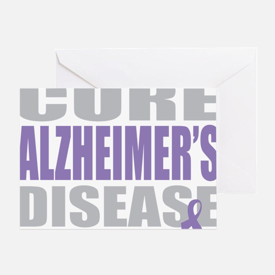 Cure-Alzheimers-2009-blk Greeting Card