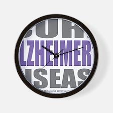 Cure-Alzheimers-2009 Wall Clock
