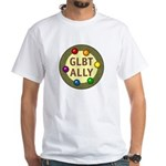 Ally Baubles -GLBT- White T-Shirt
