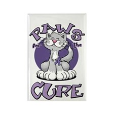 Paws-for-the-Cure-Cat-Alzheimers- Rectangle Magnet