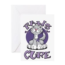 Paws-for-the-Cure-Cat-Alzheimers-blk Greeting Card