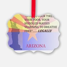 Arizona with Statue Of Liberty Ornament