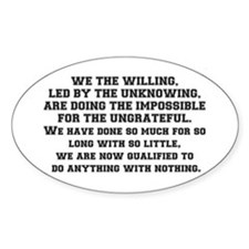 WE THE WILLING Decal