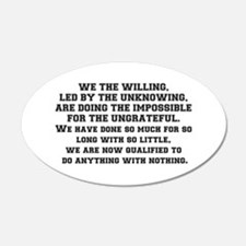 WE THE WILLING Wall Decal