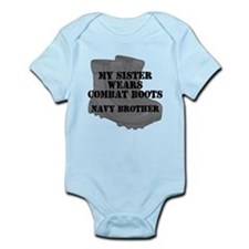 Navy Brother Sister Combat Boots Body Suit