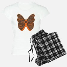 Butterfly Kidney Cancer Ribbon Pajamas