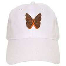 Butterfly Kidney Cancer Ribbon Hat