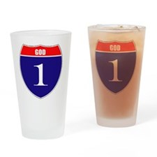 isgod1 Drinking Glass