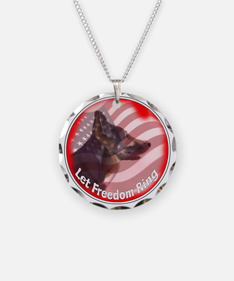 GSD freedom ring Necklace