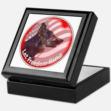 GSD freedom ring Keepsake Box