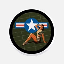 """Air Force Pinup Girl 3.5"""" Button"""