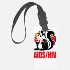 AIDS-HIV-Stinks-BLK Luggage Tag