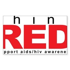AIDS-HIV-Think-Red Decal