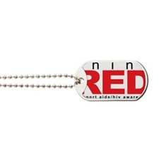 AIDS-HIV-Think-Red Dog Tags