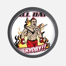 All Day Every Day MMA Wall Clock