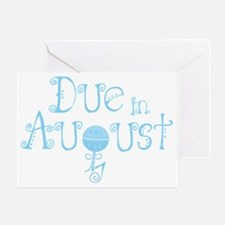 due_august_rattle_blu Greeting Card
