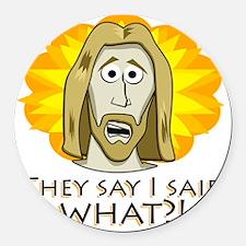 Jesus Round Car Magnet