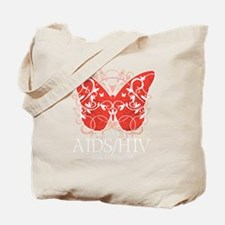 AIDS-HIV-Butterfly-blk Tote Bag