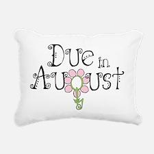 due_august_onwht Rectangular Canvas Pillow