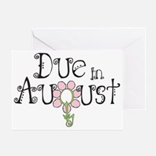 due_august_onwht Greeting Card