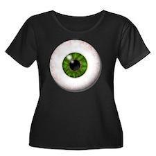 eyeball_ Women's Plus Size Dark Scoop Neck T-Shirt