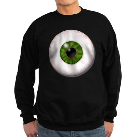 eyeball_greeneye Sweatshirt (dark)