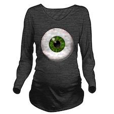 eyeball_greeneye Long Sleeve Maternity T-Shirt