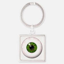 eyeball_greeneye Square Keychain