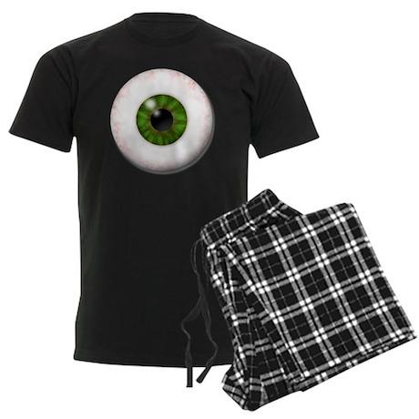 eyeball_greeneye Men's Dark Pajamas