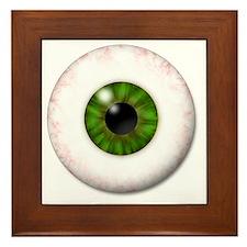 eyeball_greeneye Framed Tile