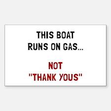 Boat Runs Gas Decal