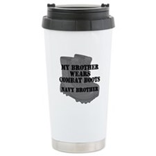 Navy Brother Combat Boots Travel Mug