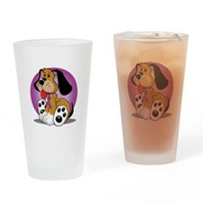 Animal-Abuse-Dog-blk Drinking Glass