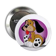 "Animal-Abuse-Dog-blk 2.25"" Button"