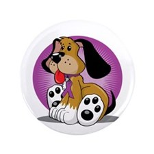 "Animal-Abuse-Dog-blk 3.5"" Button"