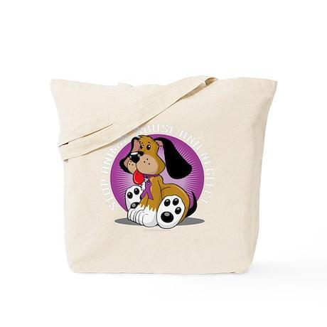 Animal-Abuse-Dog-blk Tote Bag