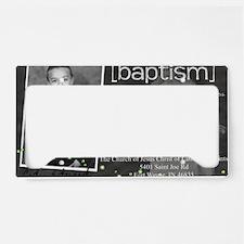 baptism License Plate Holder