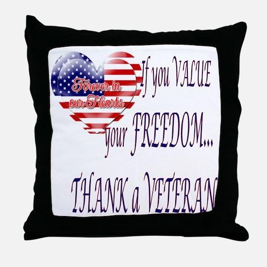thankveteran Throw Pillow