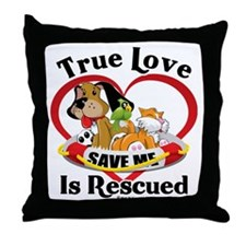 Rescued-Love-2009 Throw Pillow