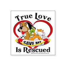 "Rescued-Love-2009 Square Sticker 3"" x 3"""