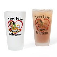 Rescued-Love-2009 Drinking Glass