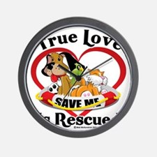 Rescued-Love-2009 Wall Clock