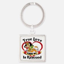 Rescued-Love-2009 Square Keychain