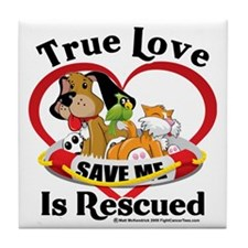 Rescued-Love-2009 Tile Coaster