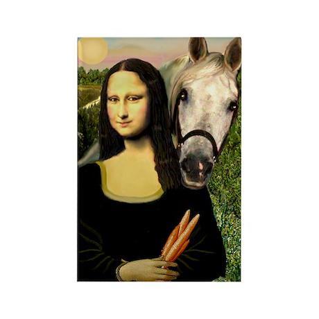 Mona's Arabian Horse (#1) Rectangle Magnet